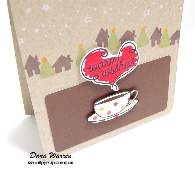 Dana Warren - Kraft Paper Stamps - Waffle Flower