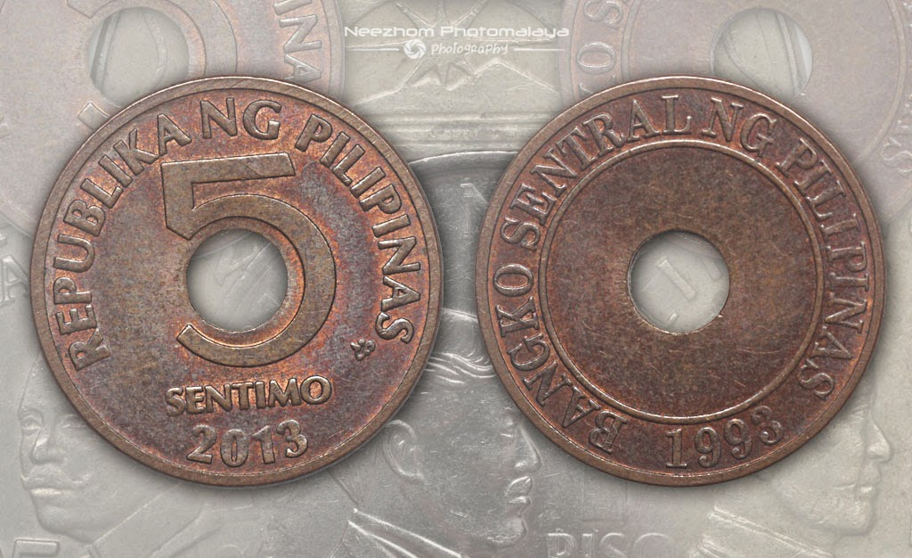 Philippines coins 5 Sentimo 2013