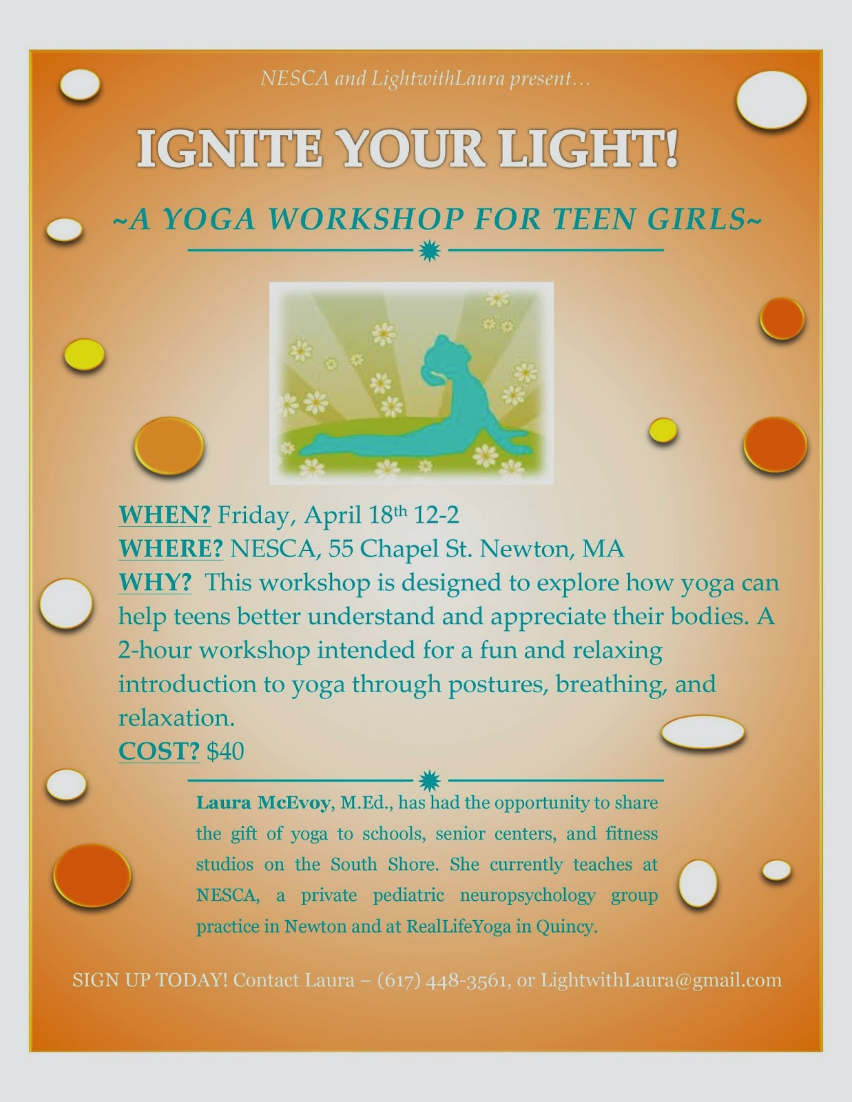 Webinar April 14th Roadmap To Cbhi How >> Nesca News Notes Ignite Your Light A Yoga Workshop For Teen Girls