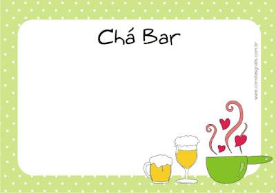 convite cha bar boteco gratis