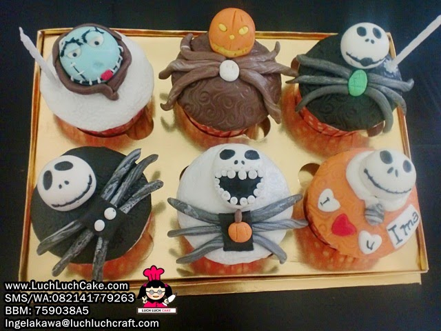 Cupcake Tengkorak Nightmare Before Christmast