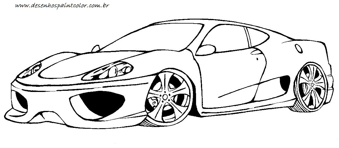 Colorindo E Desenhando Carro Para Colorir 7