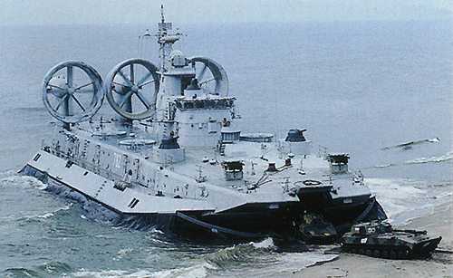 "China's Ukraine-built ""Zubr"" amphibious hovercraft (also known as the ""European bison"")"