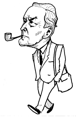 Ken Gill cartoon of Tony Benn