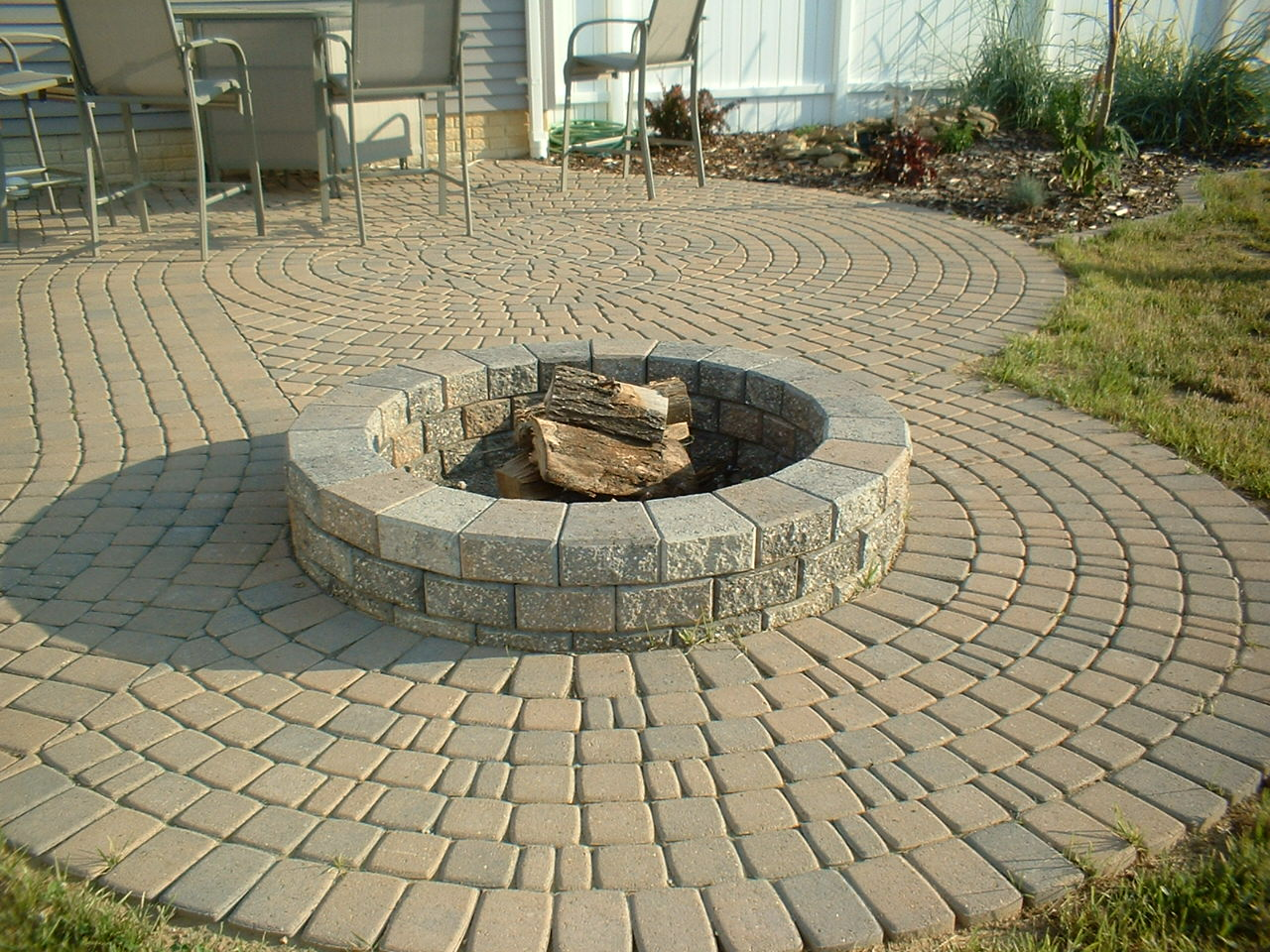 outdoor brick paving