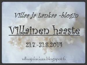 Villainen haaste blogissani 21.7.-31.8.2014