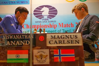 Echecs : Vishy Anand face à Magnus Carlsen - Photo © site officiel