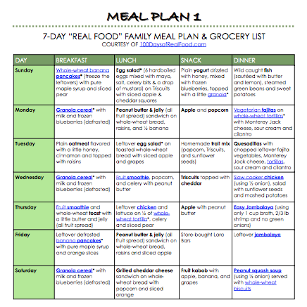 """Organic.org: Free """"Real Food"""" Meal Plans"""