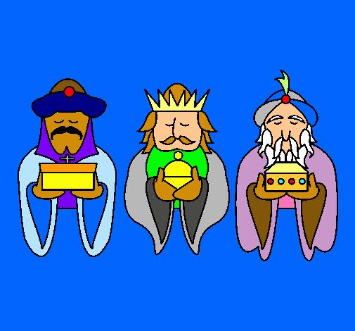 The Three Wise Men following Bethlehem's star, on a motorbike.