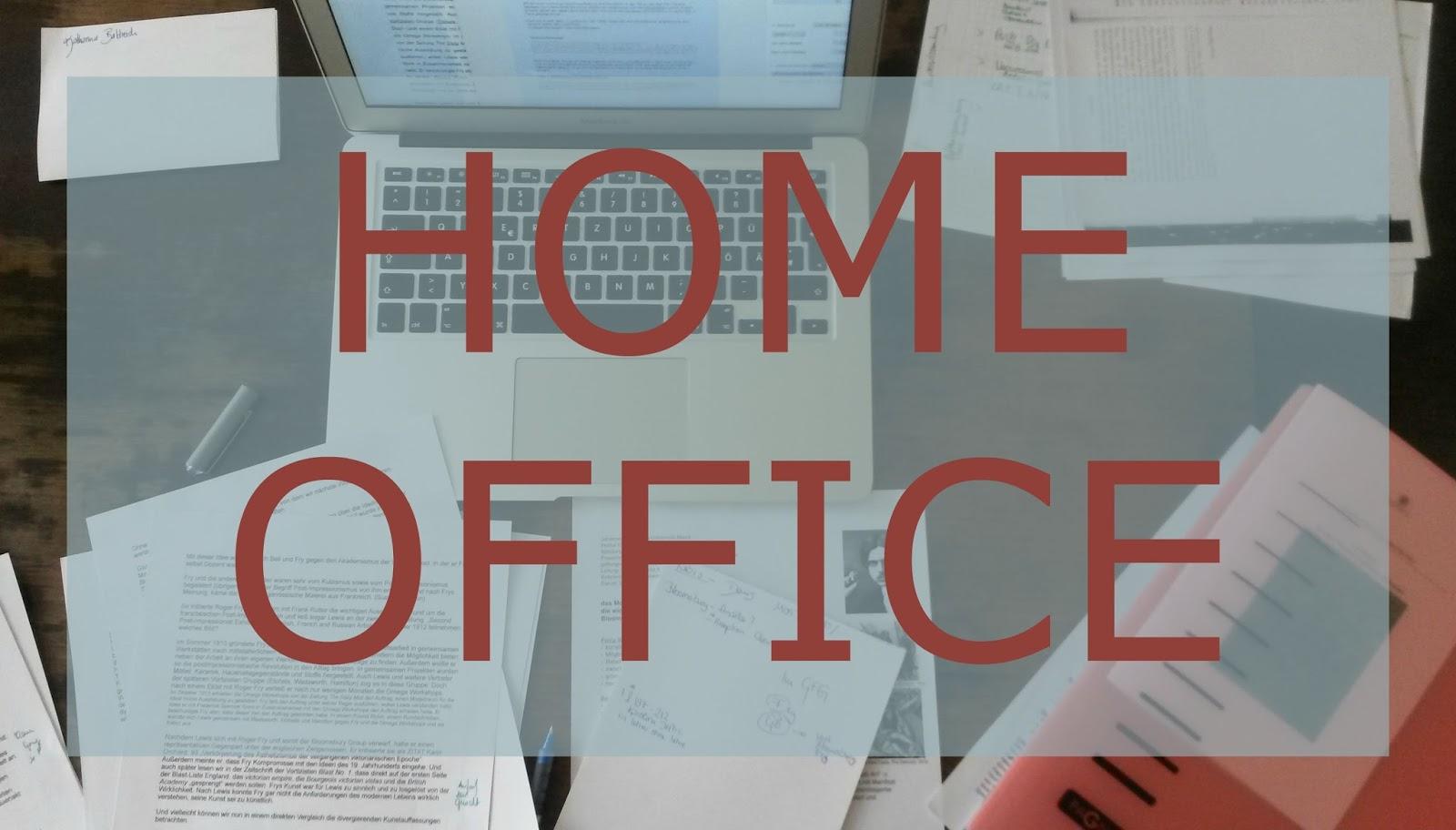 une vie magnifique: home office: wenn man zu Hause lernen oder ...