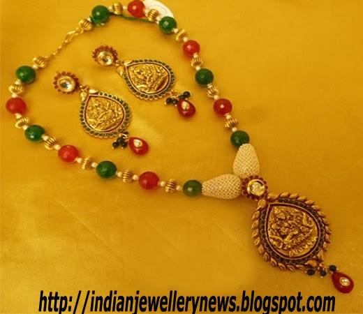 Kundan Set Temple Jewellery