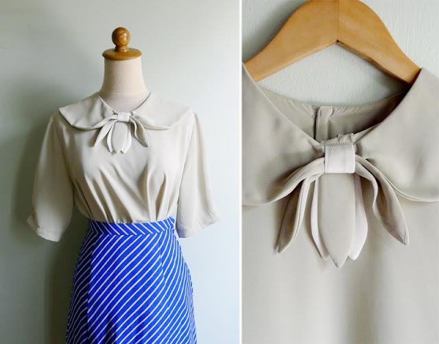 vintage schoolgirl collar blouse