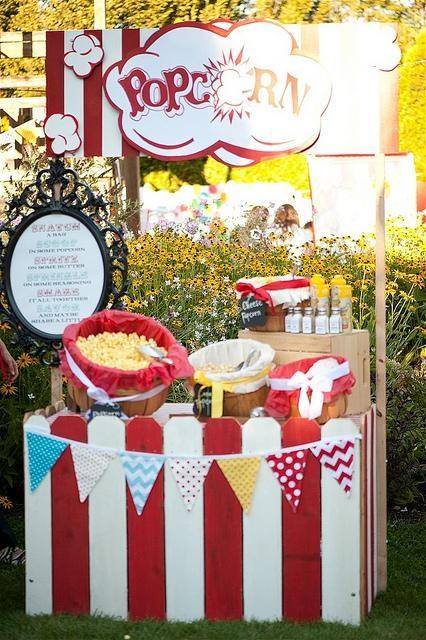 Popcorn Bar At Wedding Full Service Wedding Planning Design