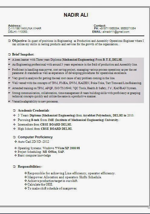 resume format  curriculum vitae format download romana