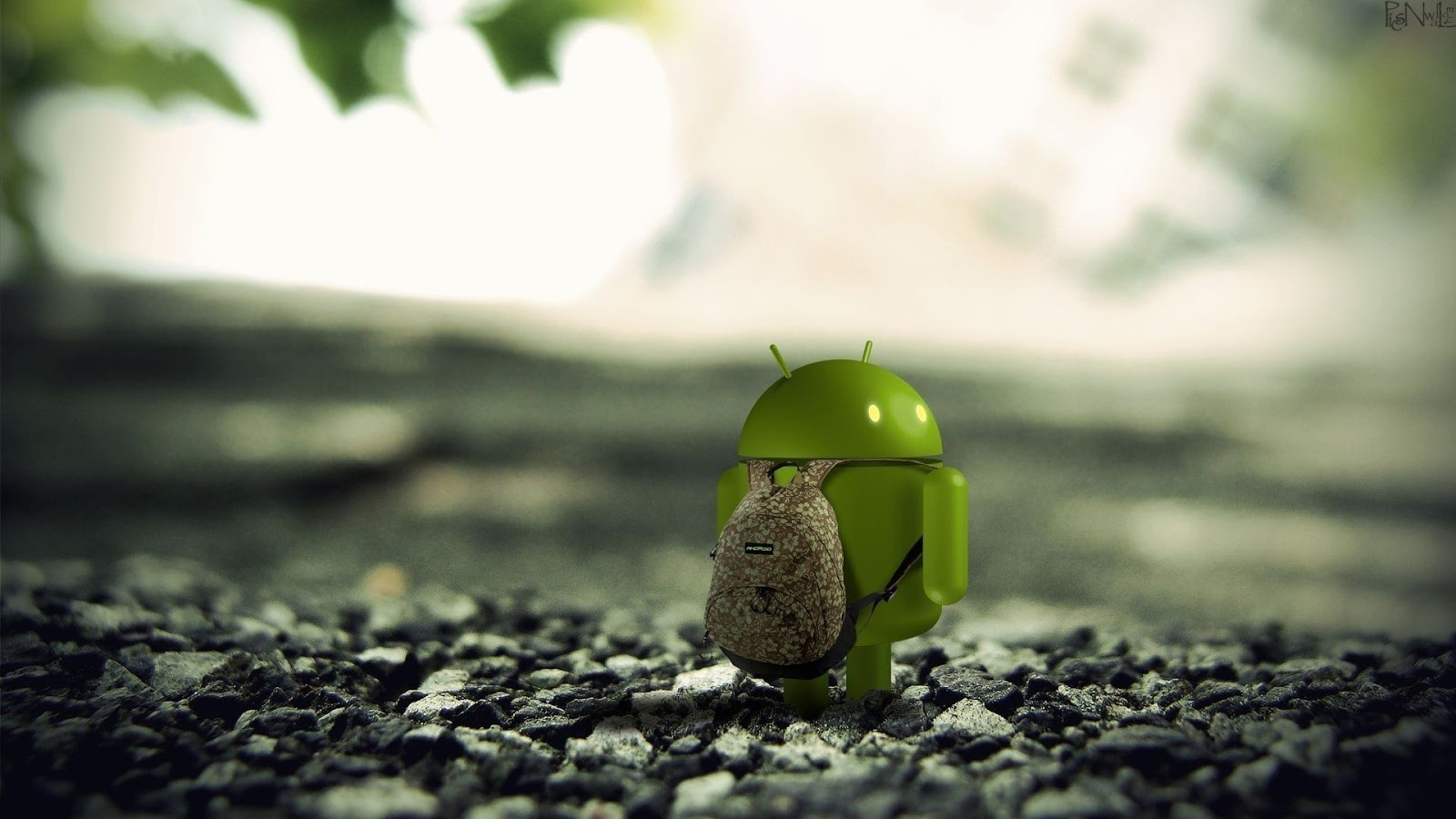 Android logo Wearing bag HD Wallpaper
