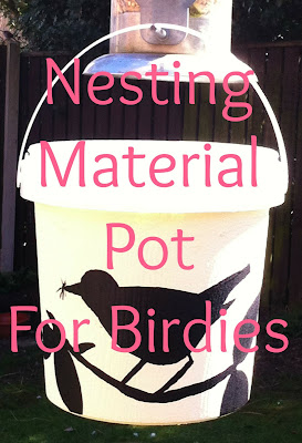 Miss Chaela Boo: Guest post: Making a nesting material pot for birds by Miss Beatrix
