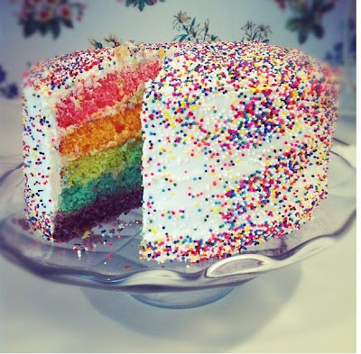 Popular Rainbow Cake With Sprinkles