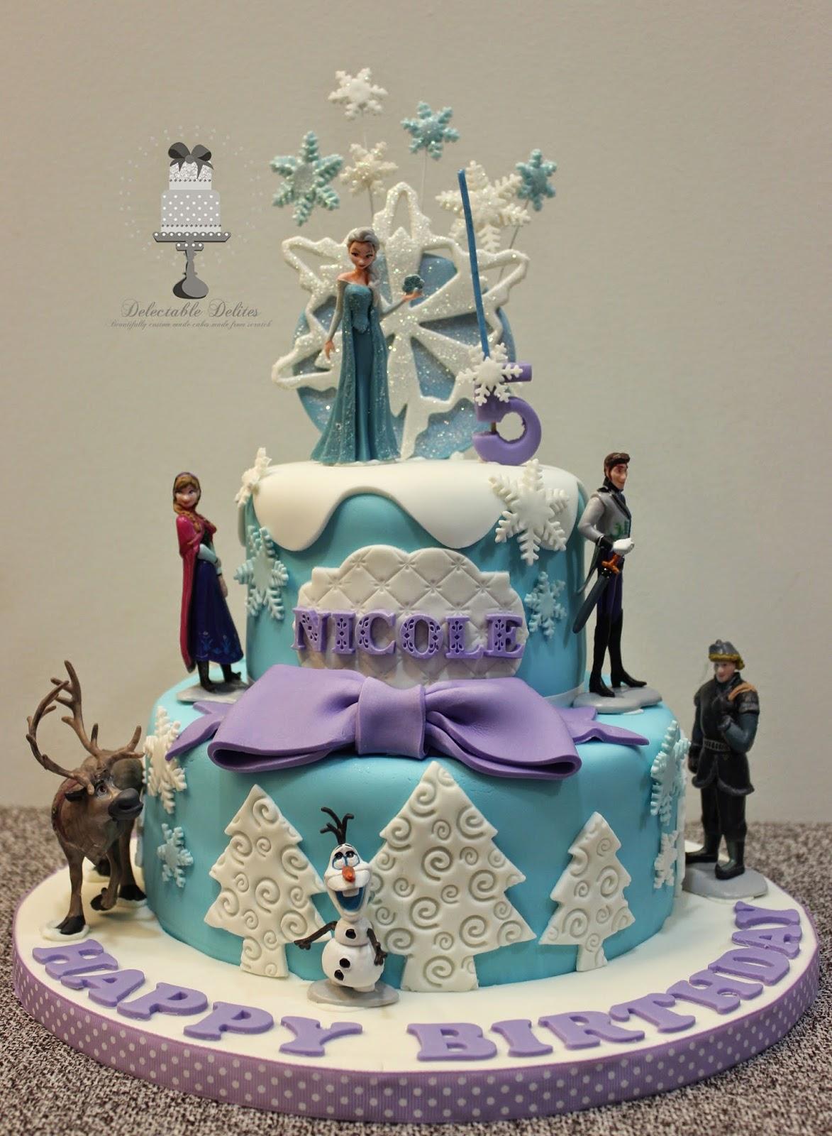 Delectable Delites Frozen theme cake for Nicoles 5th birthday
