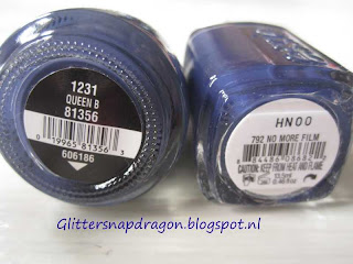 China Glaze Queen B and Essie No More Film