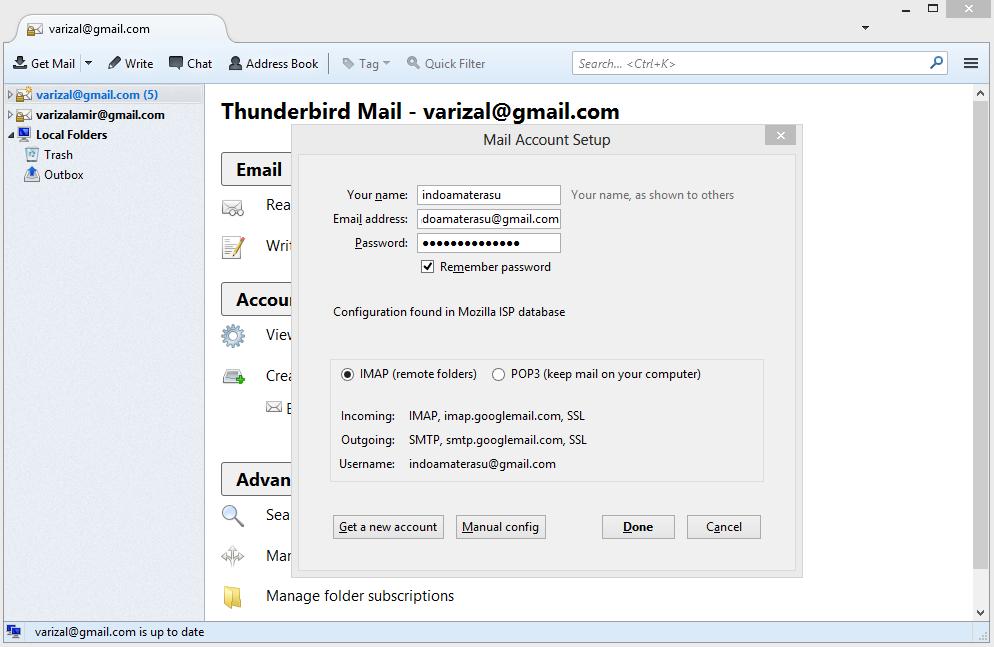 Menambahkan Beberapa Account di Mozilla Thunderbird 4