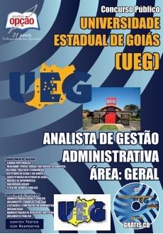 comprar Apostila Concurso UEG-GO 2015 | Analista de Gestão Administrativa Área: Geral