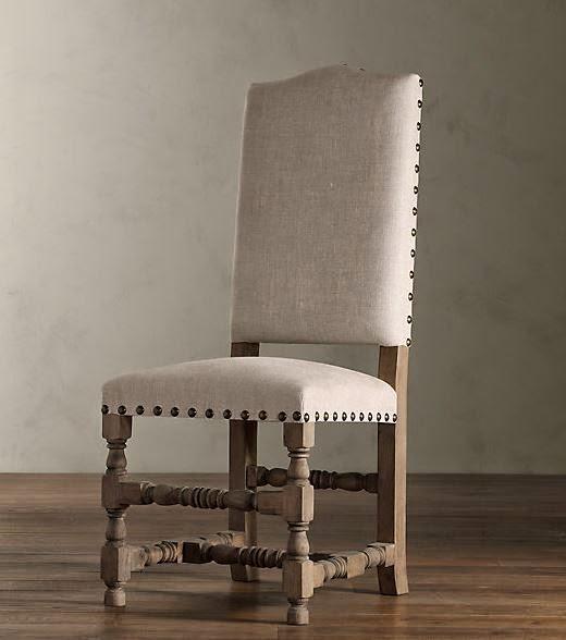 restoration hardware baroque upholstered side chair 449