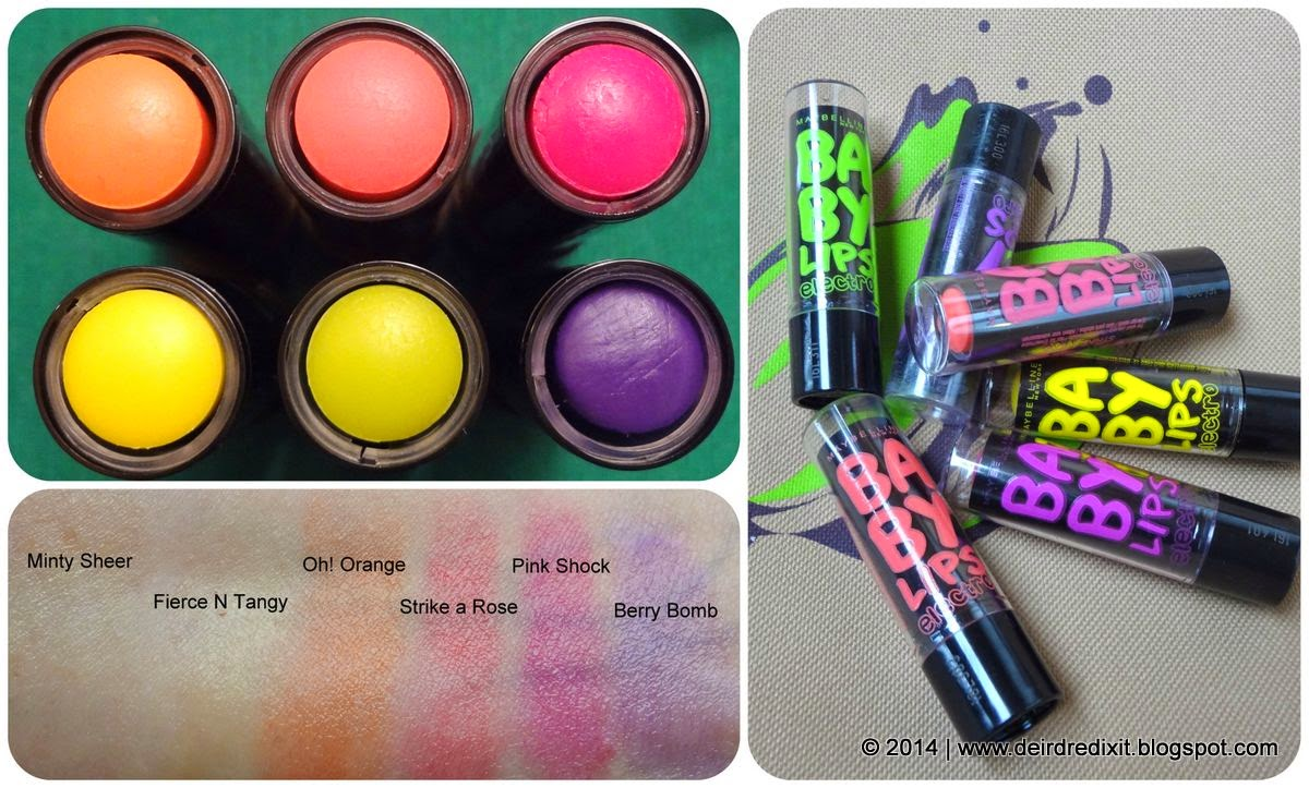 Maybelline Baby Lips Electro Packaging Swatch