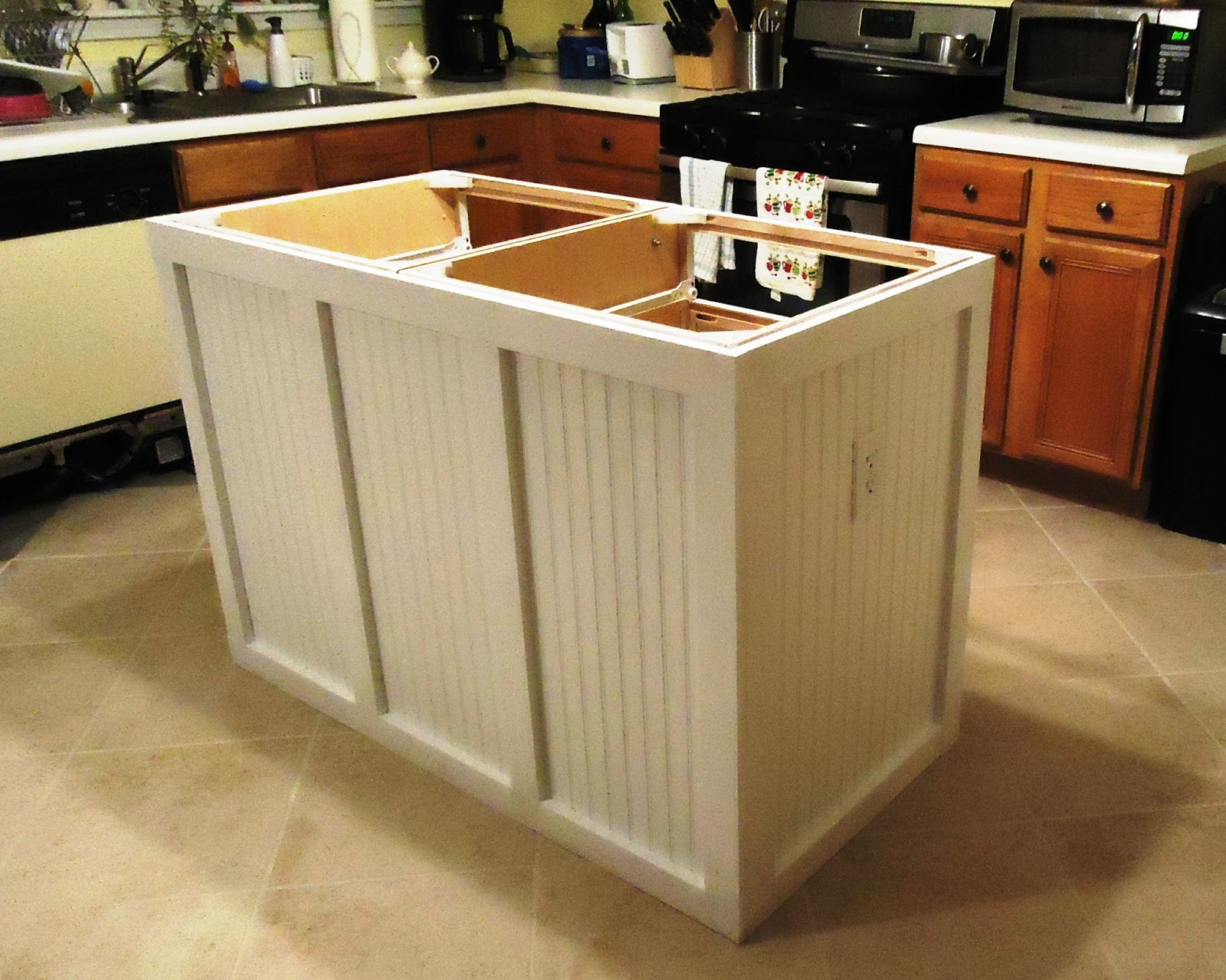 walking to retirement : the diy kitchen island