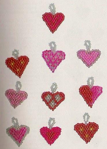 поделки из бисера. сердце