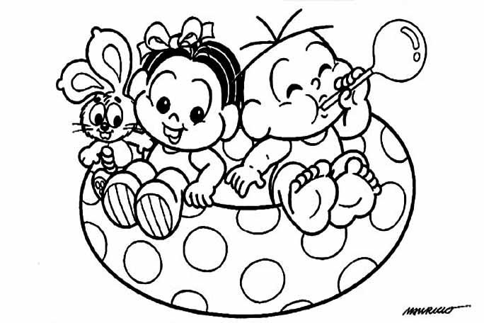 Desenhos Para Colori Turma Da Monica Bebes desenhar