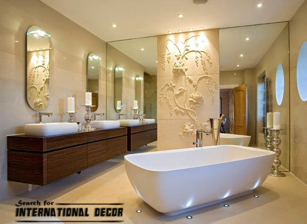 wall panels,wall molding,gypsum and plaster art,modern bathroom