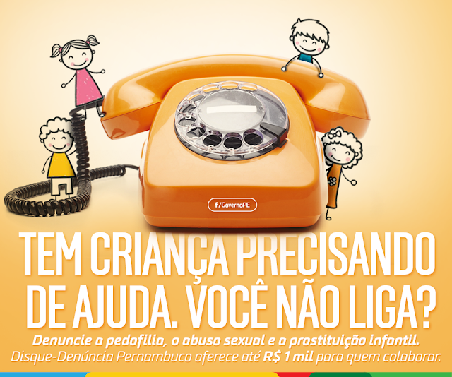 Governo lança campanha para estimular denúncia contra crianças e adolescentes em Pernambuco