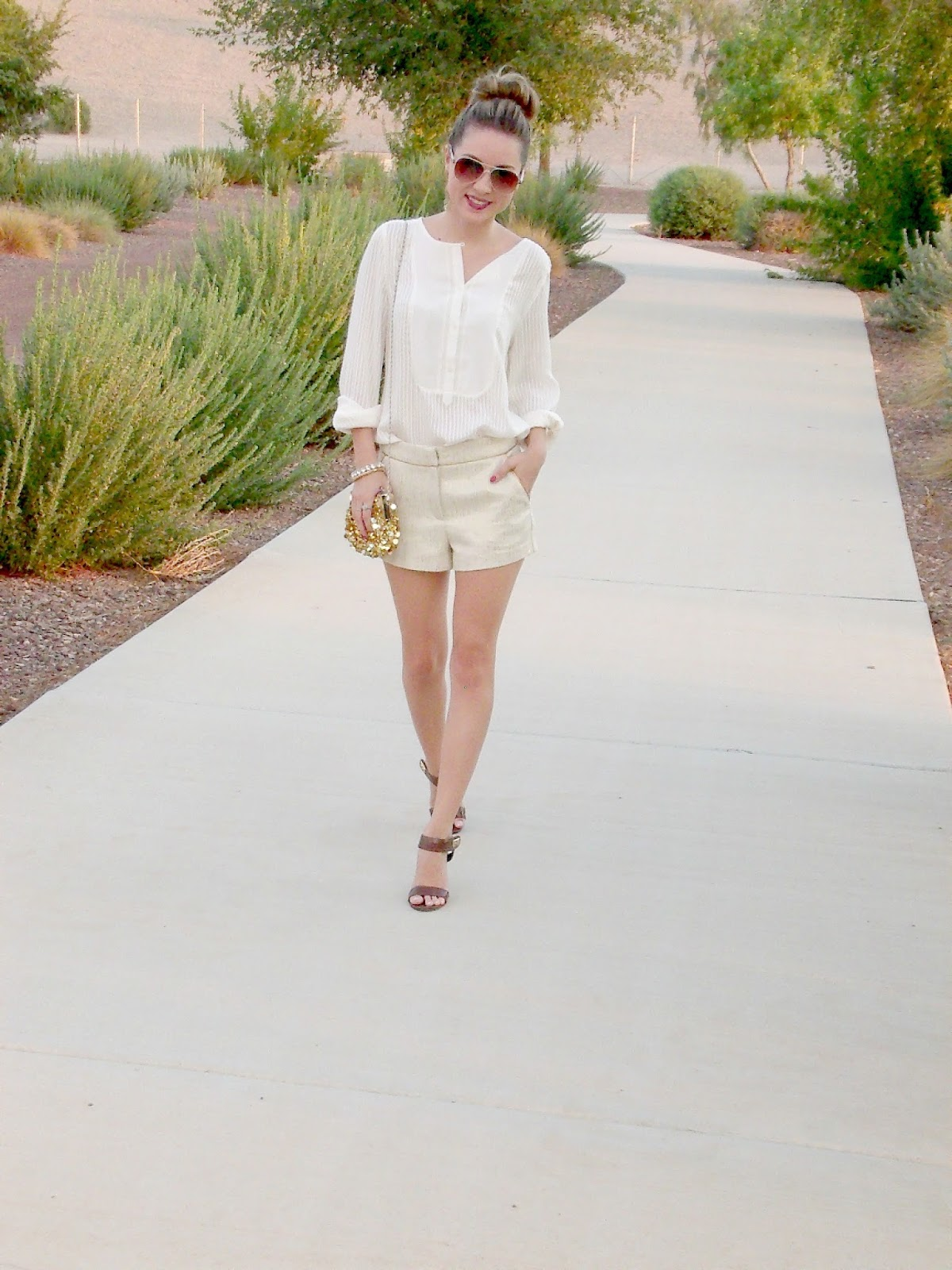 ivory and gold with loft and forever 21