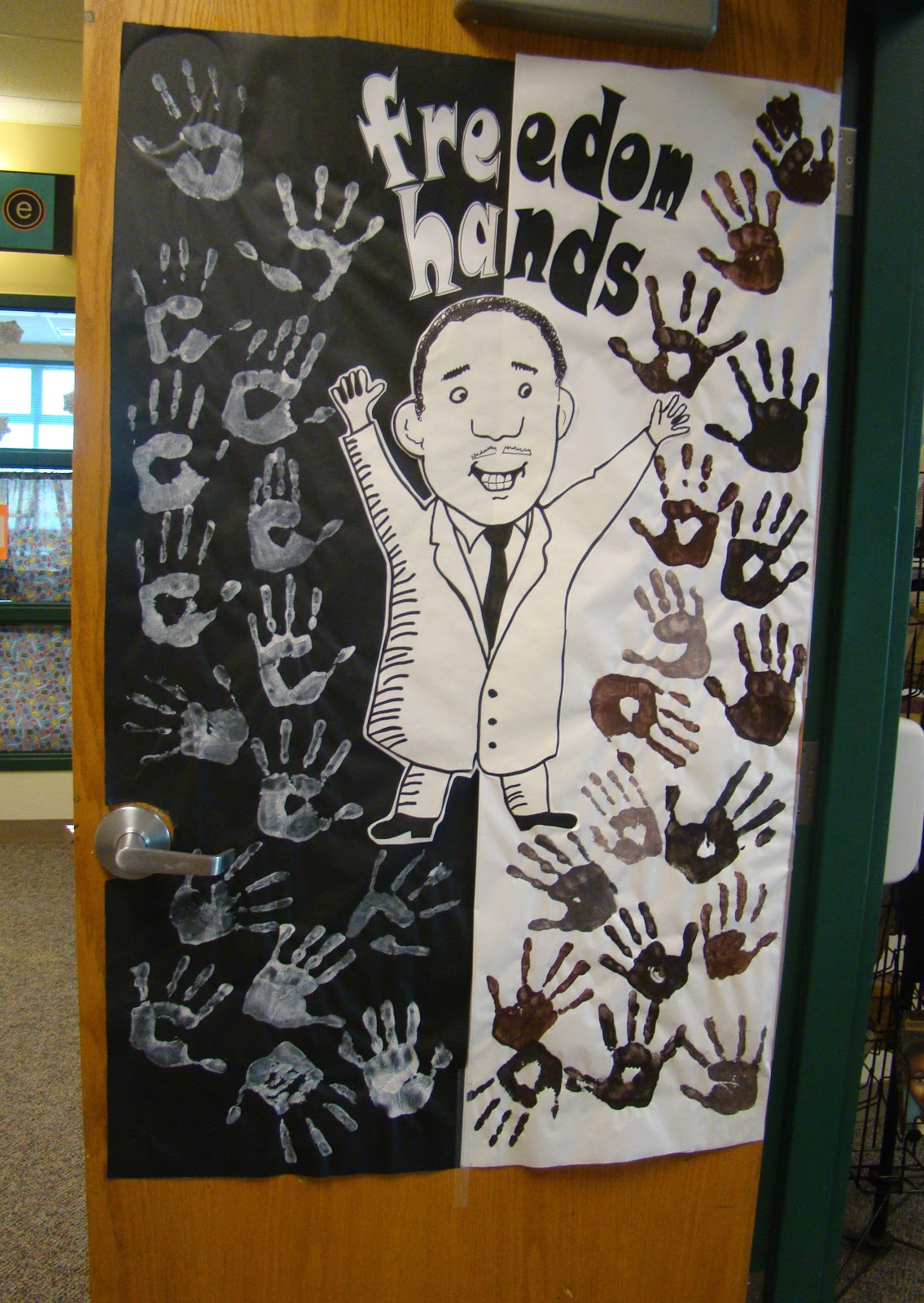 Classroom Door Decoration Ideas For Black History Month ~ A full classroom freedom hands