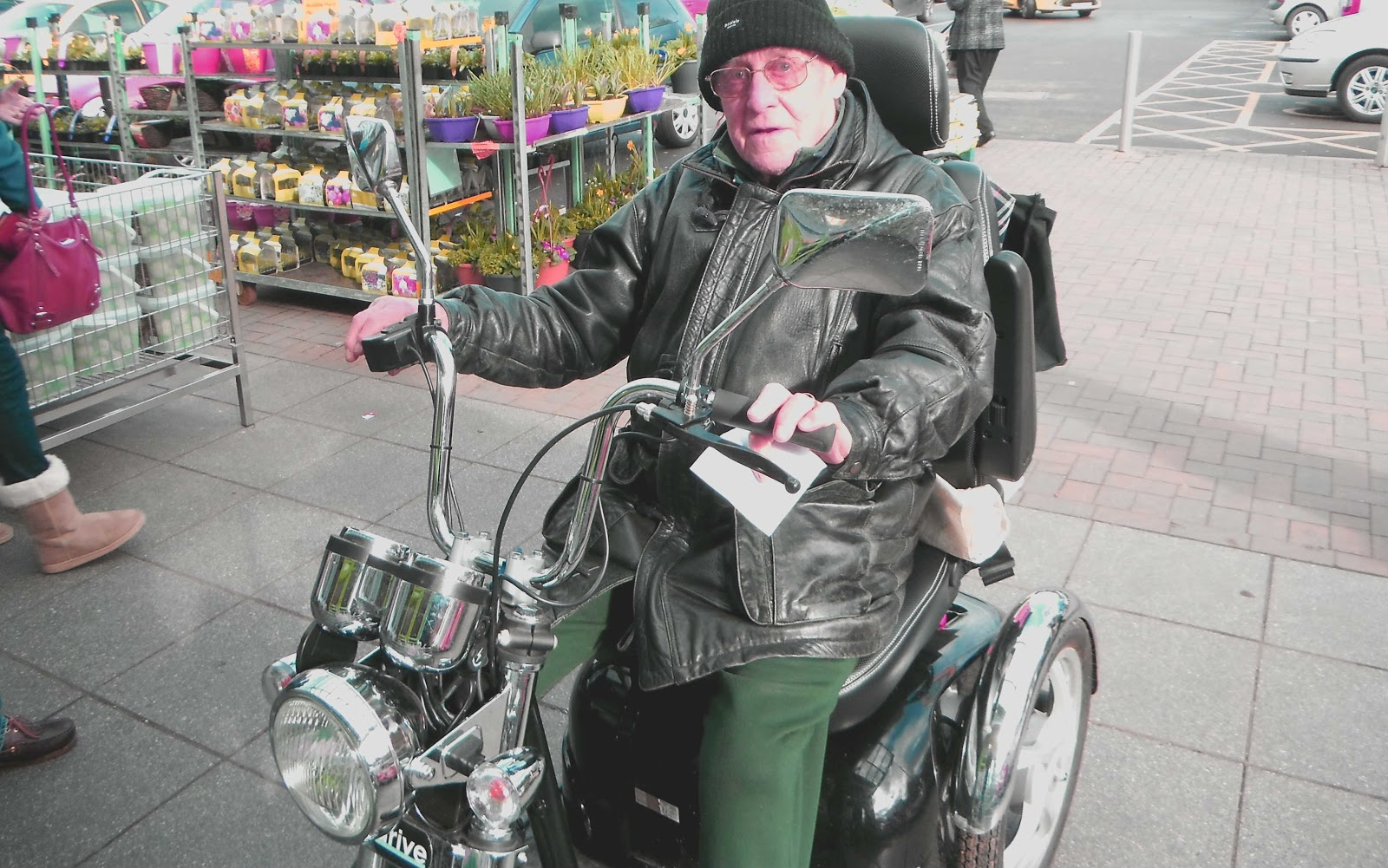 Roy Cox on a limited-edition 'Drive' scooter