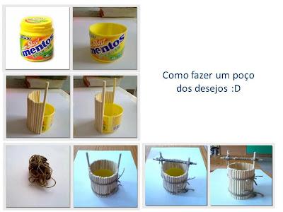 reciclagem - poço dos desejos com pote plástico  PAP (DIY)