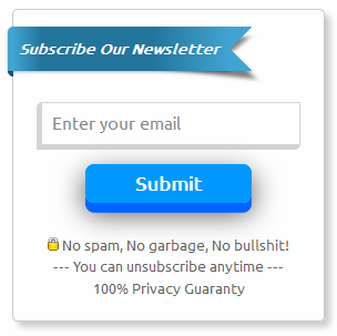 (Ribbon+3D) Feedburner Email subscription form for Blogger/Wordpress