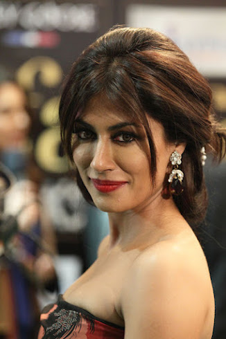 Chitramgda Singh close up - chitrangada singh floral off shoulder dress- IIFA 2012