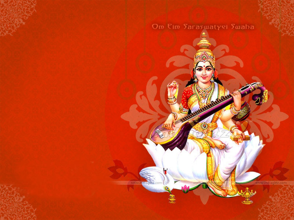 Maa Saraswati HD Wallpapers - Vidya Ki Devi Hindu Goddess ...