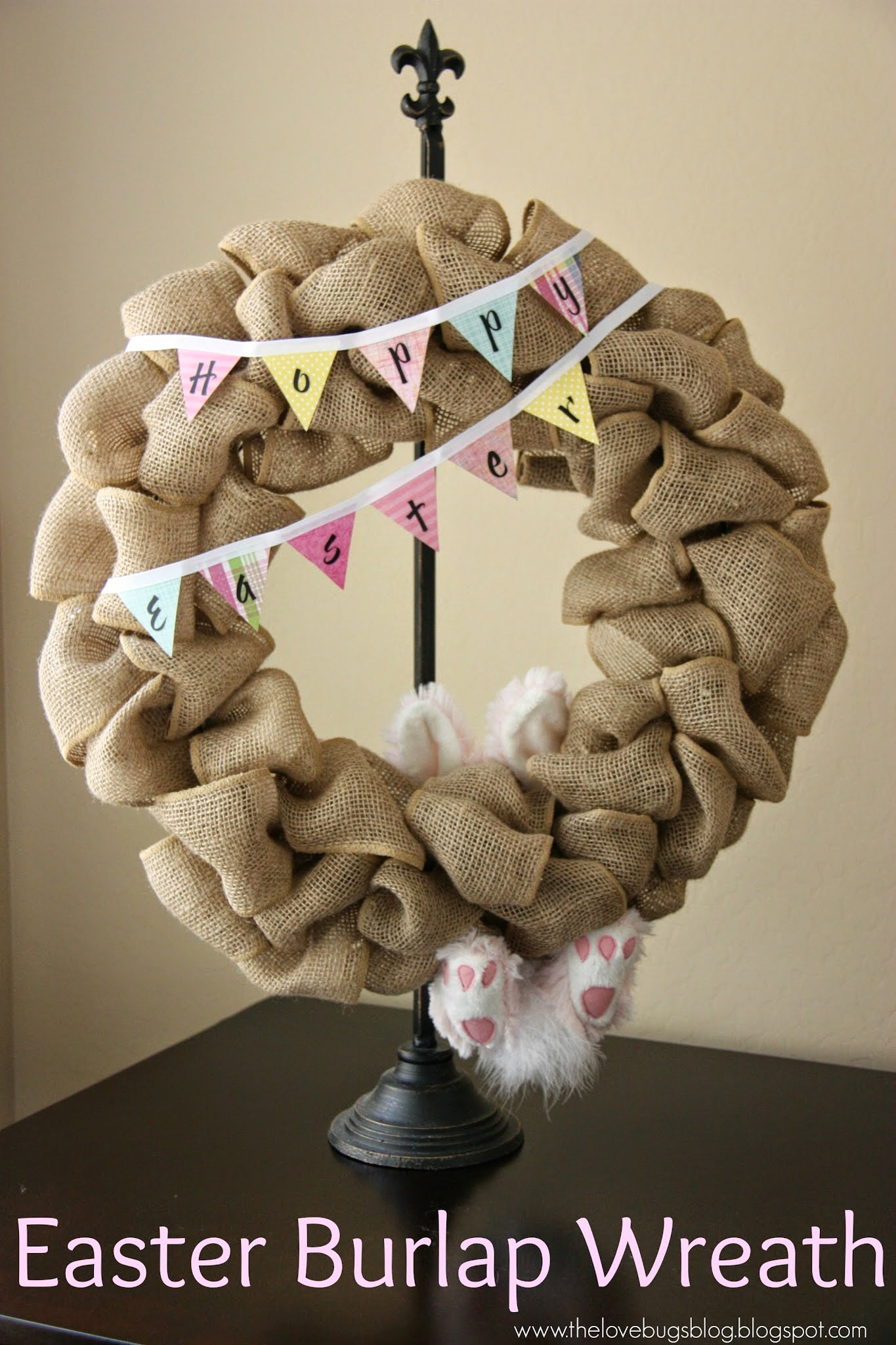 Easter Burlap Wreath