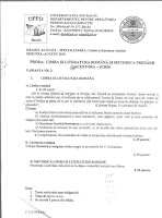 Subiecte Limba Romana - Grad II 2010