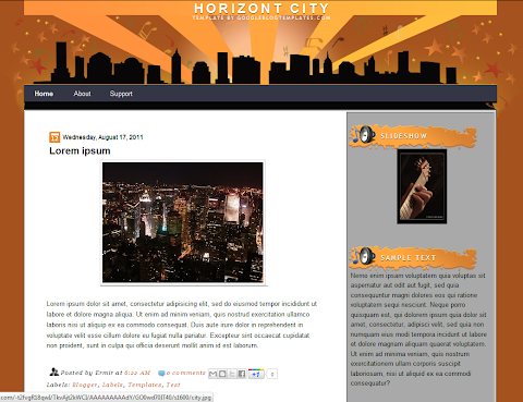 Horizont City Blogger Theme
