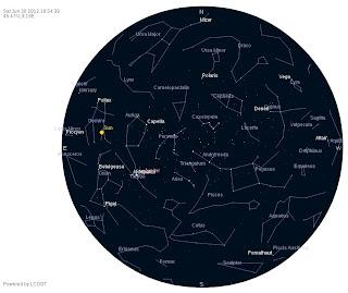 Un planetario generato con Virtual Sky. Fonte: LCOGT.net