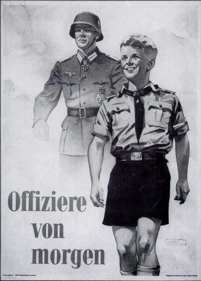 Nazi propaganda poster recruiting Hitler Youth