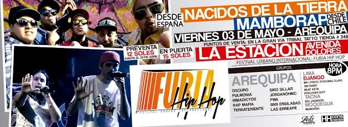 "FESTIVAL URBANO INTERNACIONAL ""FURIA HIP HOP"" - AREQUIPA (03 mayo)"