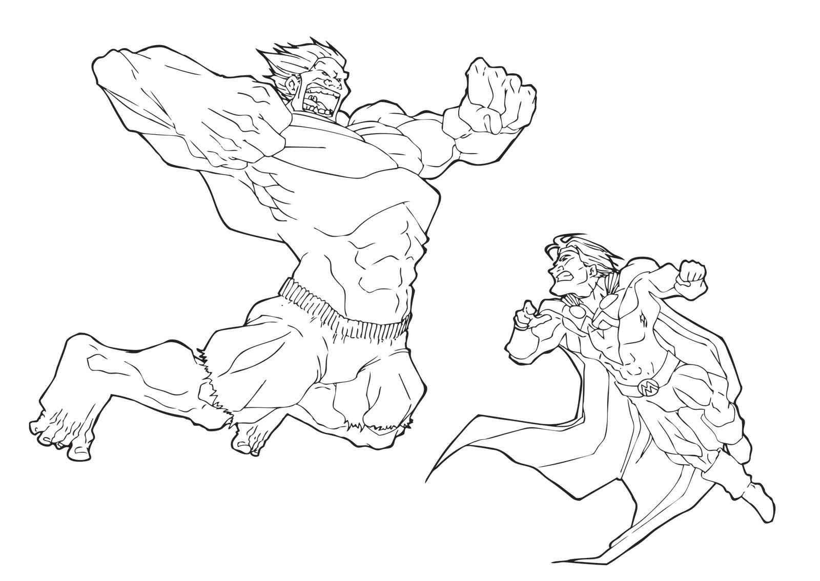 hulk vs superman coloring pages - photo#35