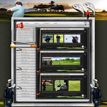 Small Ball Big Fun blogger template. free blogspot template download. golf blogger template