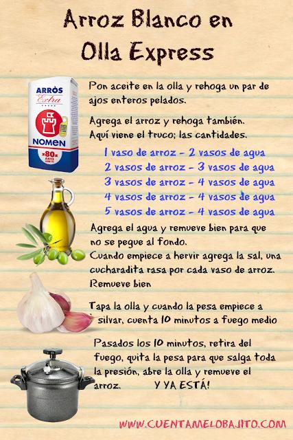 Cu ntamelo bajito arroz blanco perfecto en olla express - Como cocer garbanzos en olla express ...
