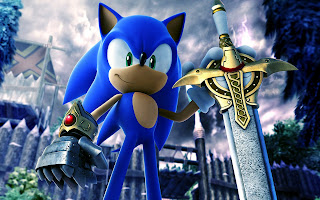 Sony The Hedgehog The Dark Knight with Sword 3D HD Wallpaper