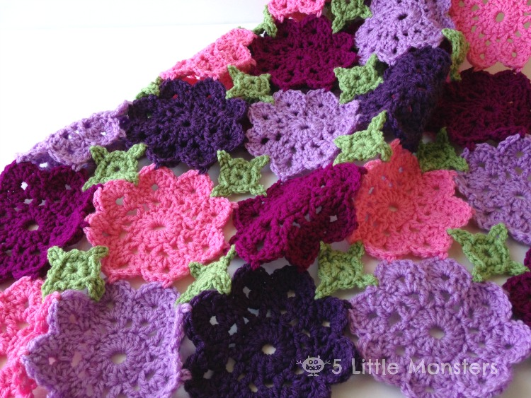 Kennadys Flower Garden Baby Blanket Free Crochet Pattern New